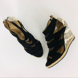 Donald J. Pliner Malery Wedge Zip Back Sandals 7.5